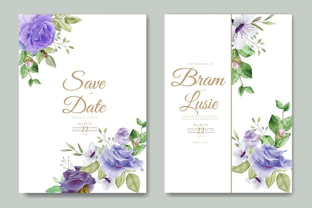 Beau dessin à la main invitation de mariage design floral
