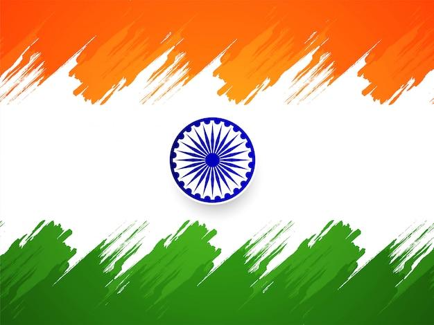 Beau drapeau tricolore fond indien