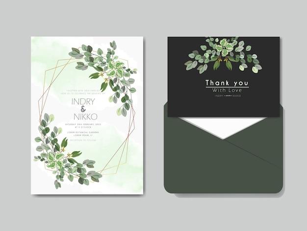 Beau et élégant concept floral invitation de mariage
