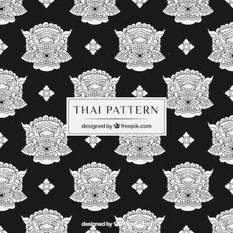Beau et élégant motif thaïlandais