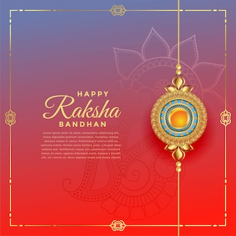 Beau festival de rakshabandhan avec décoration de rakhi, modèle de texte