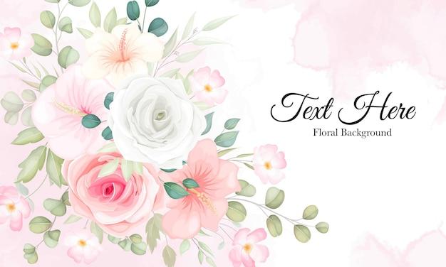 Beau floral avec ornement floral doux