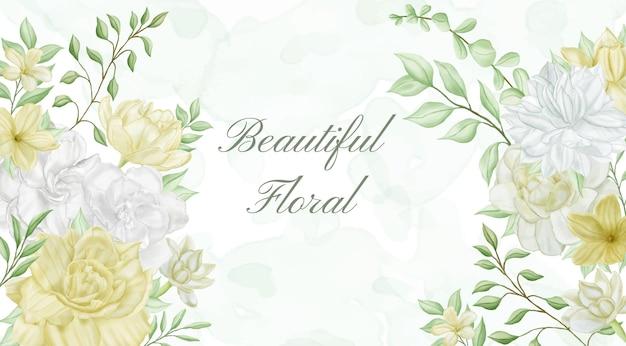 Beau floral pour le fond d'invitation de mariage