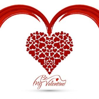 Beau fond d'amour avec le coeur