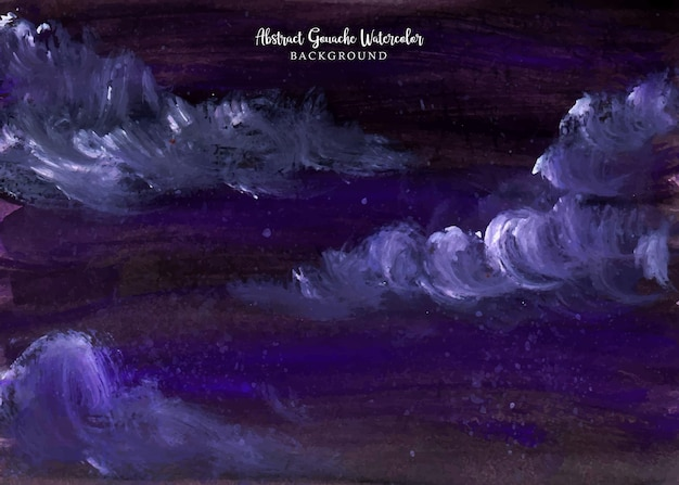 Un beau fond d'aquarelle de gouache abstraite de ciel nocturne