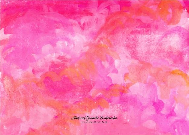 Un beau fond aquarelle de gouache abstraite rose