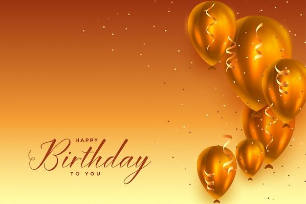 Beau fond de ballons de célébration de joyeux anniversaire