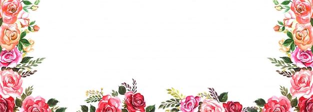 Beau fond de bannière de fleurs colorées de mariage