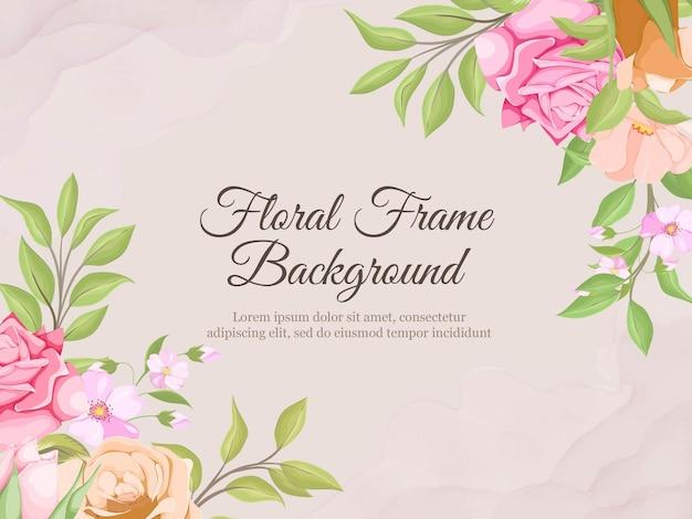 Beau fond de bannière de mariage modèle de vecteur de flore