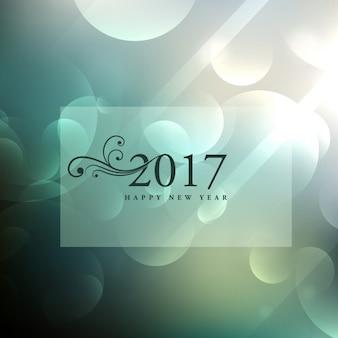 Beau fond bokeh avec 2017 texte dans un style floral