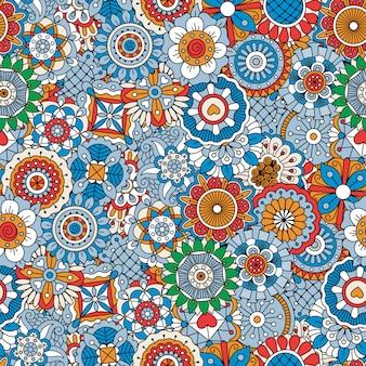 Beau fond composé de motifs floraux