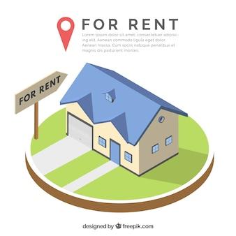 Beau fond avec un concept de maison à louer
