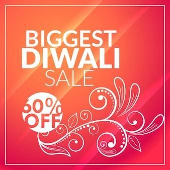 Beau fond diwali vente de marketing avec la conception florale