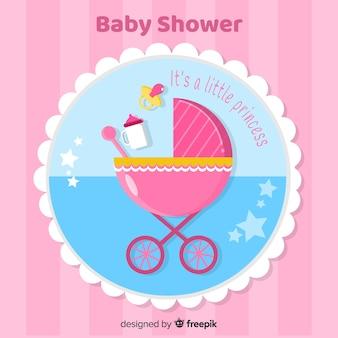 Beau fond de douche de bébé