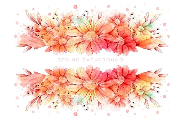 Beau fond d'écran aquarelle de printemps