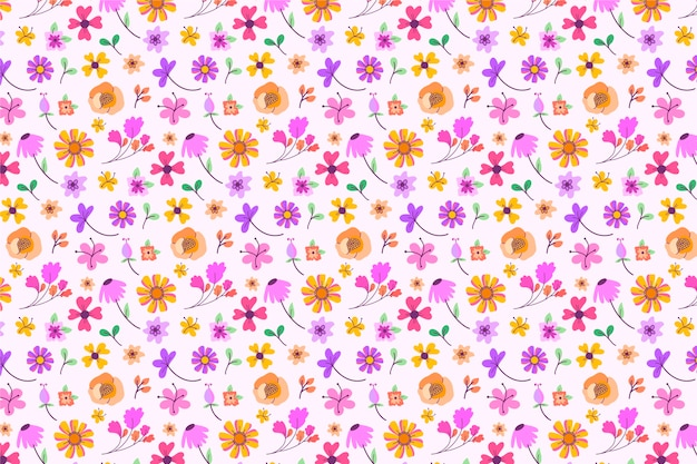 Beau fond d'écran floral ditsy
