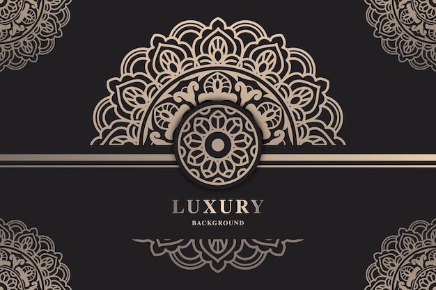 Beau fond d'écran de mandala de luxe