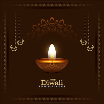 Beau fond de festival religieux happy diwali