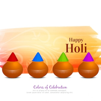 Beau fond de festival religieux happy holi