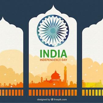 Beau fond de fête de l'indépendance indienne