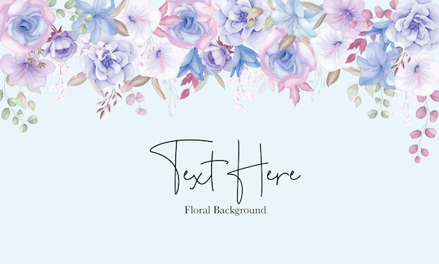 Beau fond de fleur rose et bleu doux