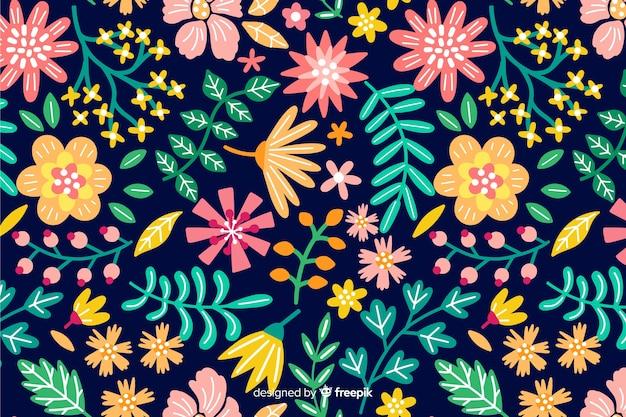Beau fond de fleurs colorées