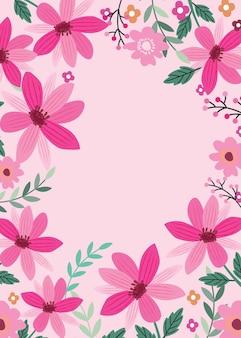 Beau fond avec des fleurs roses