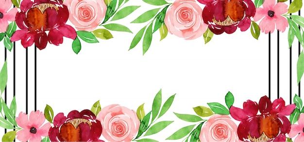 Beau fond floral aquarelle