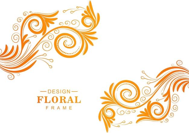 Beau fond floral coloré décoratif