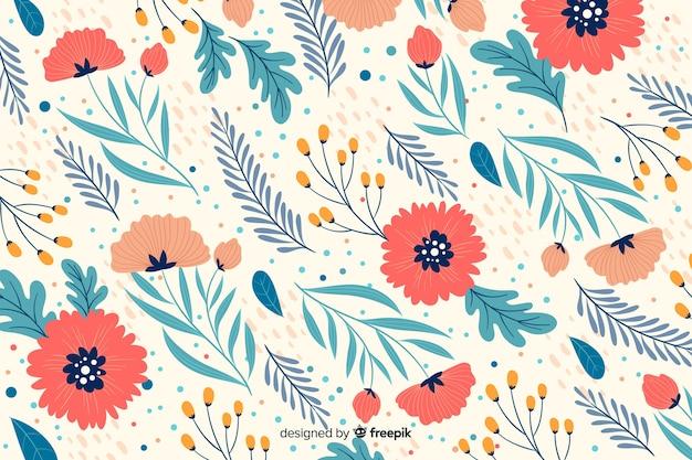Beau fond floral décoratif coloré
