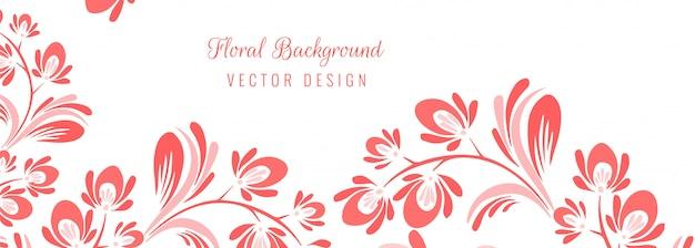 Beau fond floral décoratif