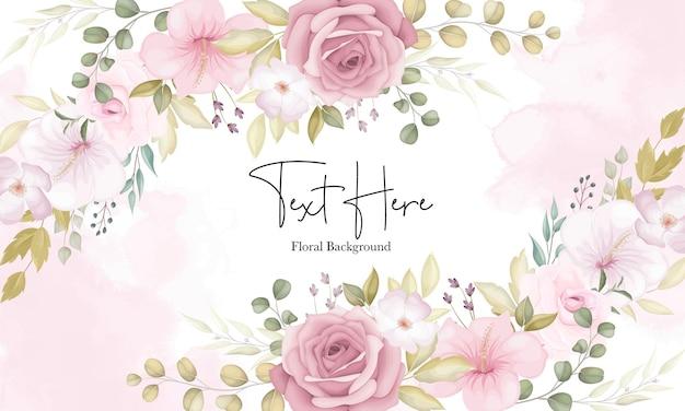 Beau fond floral doux avec des fleurs roses poussiéreuses
