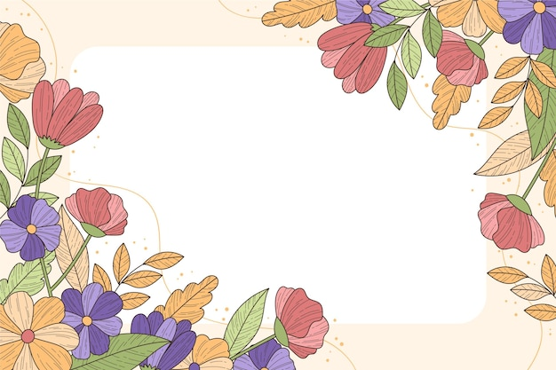 Beau fond floral avec espace copie