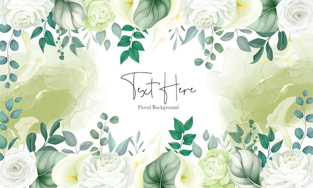 Beau fond floral lys blanc et rose