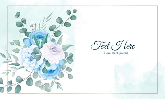 Beau fond floral avec ornement floral doux