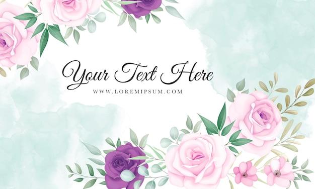 Beau fond floral rose et violet