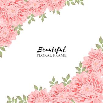 Beau fond floral rose