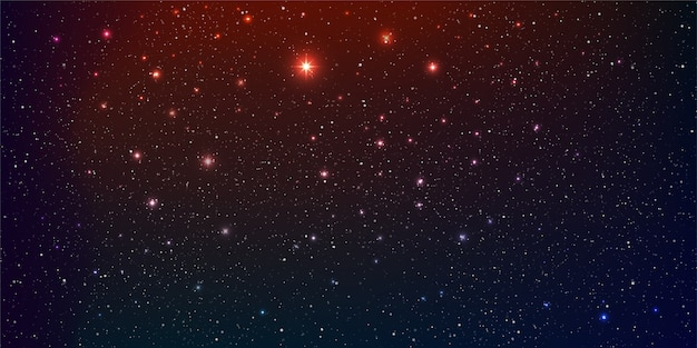 Beau fond de galaxie avec nébuleuse cosmos stardust et étoiles brillantes dans l'universel