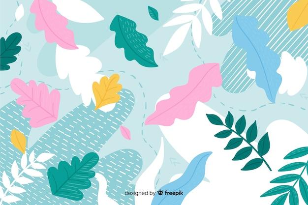 Beau fond d'une main florale abstraite dessinée