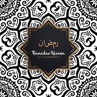 Beau fond de mandala sans couture ramadan kareem