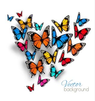 Beau fond avec papillon coloré.