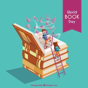 Beau fond pour la journée du livre mondial