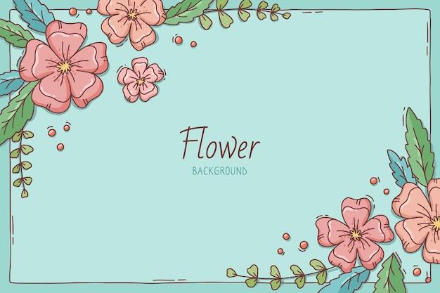 Beau fond de printemps fleur en fleurs