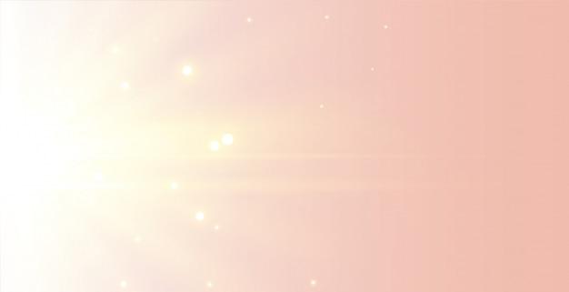 Beau fond de rayons lumineux doux et élégant