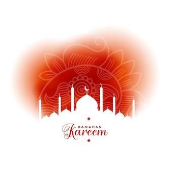 Beau fond de style islamique ramadan kareem
