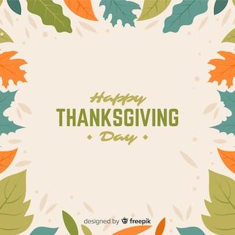 Beau fond de thanksgiving avec un design plat