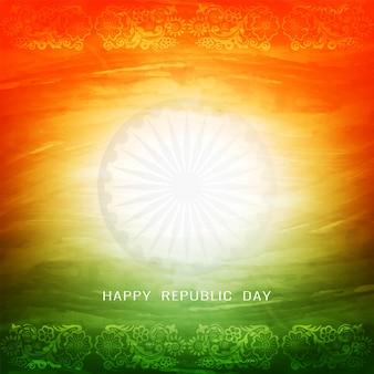 Beau fond de thème de drapeau indien tricolore