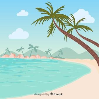 Beau fond tropical