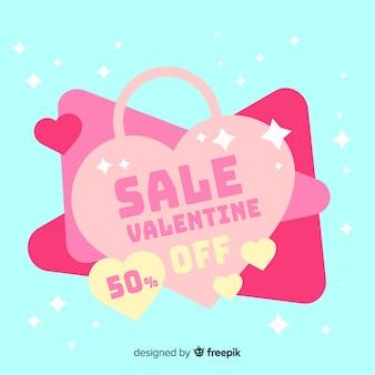 Beau fond de vente de saint valentin