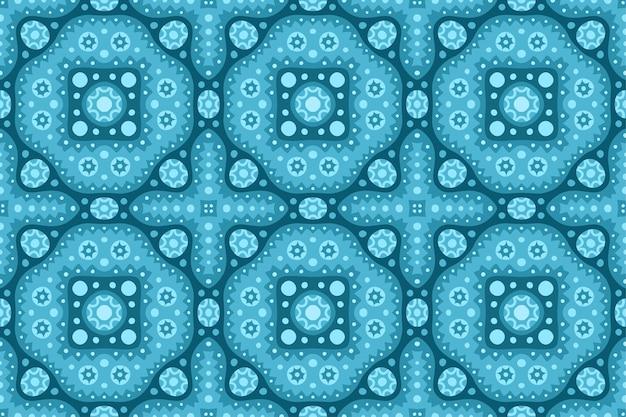 Beau fond web glacé bleu avec motif de tuile abstraite sans soudure